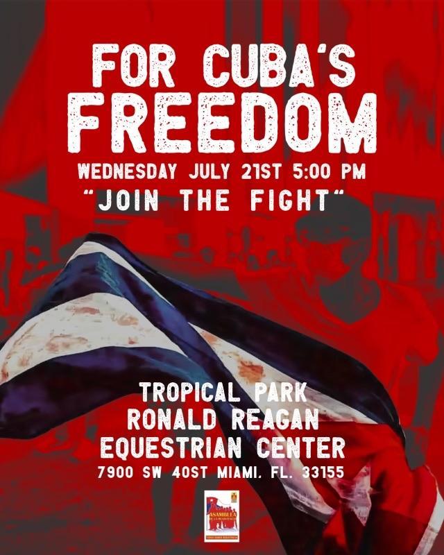 Manifestación en el Tropical Park por la Liberación de Cuba