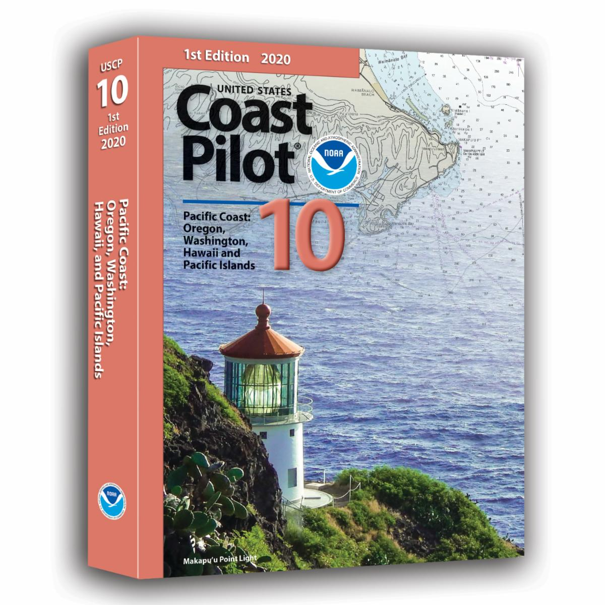 United States Coast Pilot 10 booklet cover.