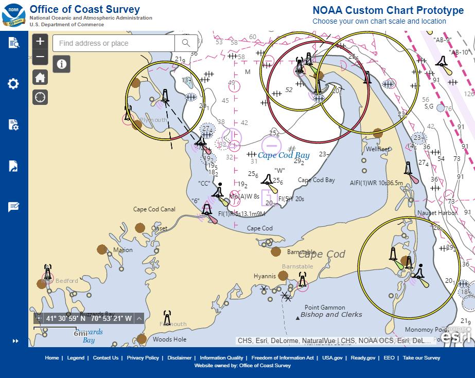 Image of NOAA Custom Chart Prototype