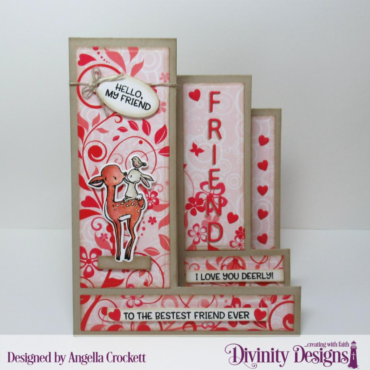 Stamp/Die Duos: Fur-Ever Friends  Custom Dies: Triple Step with Layers, Sentiment Strips, Mini Tags, Letterboard, Clouds & Raindrops Paper Collection: Sweet Hearts