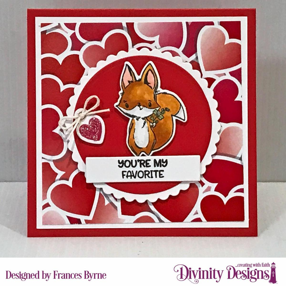 Stamp/Die Duos: Hello Foxy   Custom Dies: Circles, Scalloped Circles, Mini Tags, Sentiment Strips  Paper Collection: Sweet Hearts