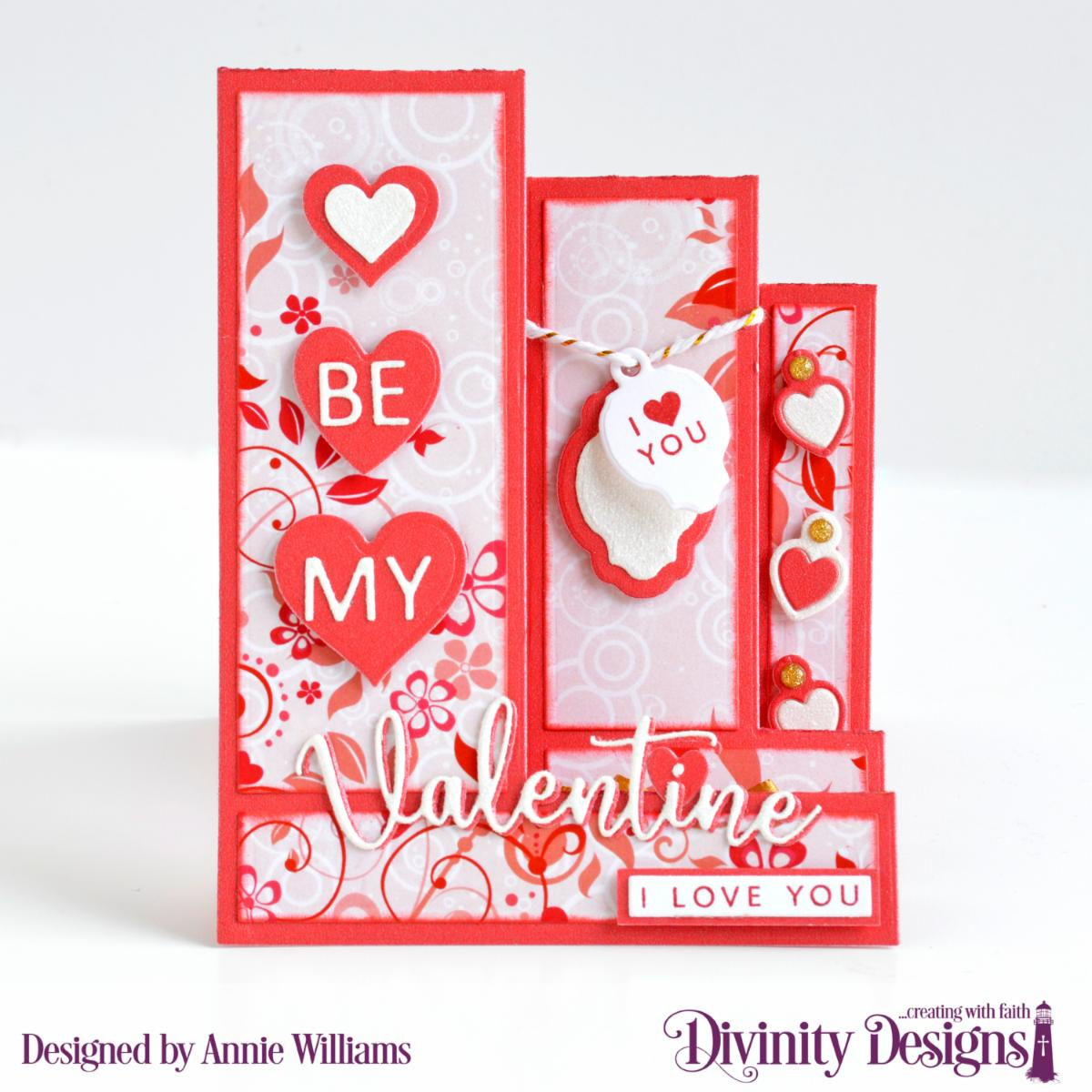 Stamp/Die Duos: Valentine's Day Custom  Dies:  Triple Step with Layers, Mini Tag, Sentiment Strips,Layering Hearts Paper Collection: Sweet Hearts
