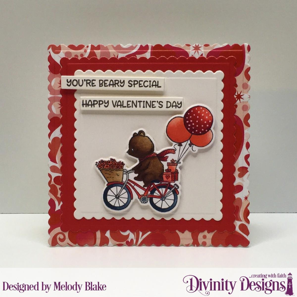 Stamp/Die Duos: Bear Hugs Custom Dies: Scalloped Squares, Sentiment Strips Paper Collection: Sweet Hearts
