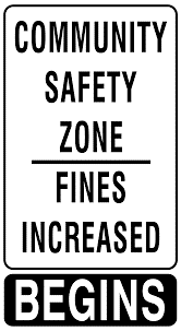Sign of Community Safety zone