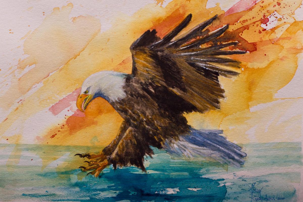 Bald Eagle by artist Gray Artus