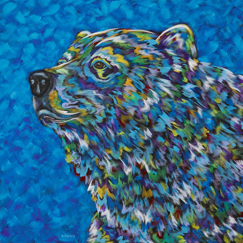 The Majestic One Acrylic on Canvas by artist Angela Alexander 20 by 20