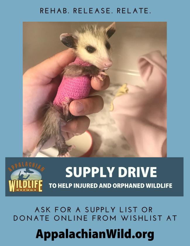 Appalachian Wild Supply Drive flyer