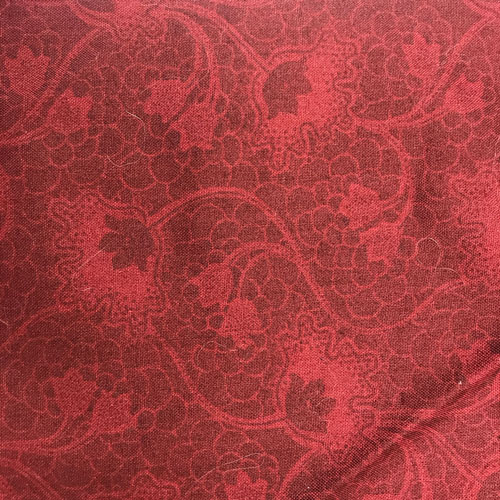 Red Flower Pattern Fabric