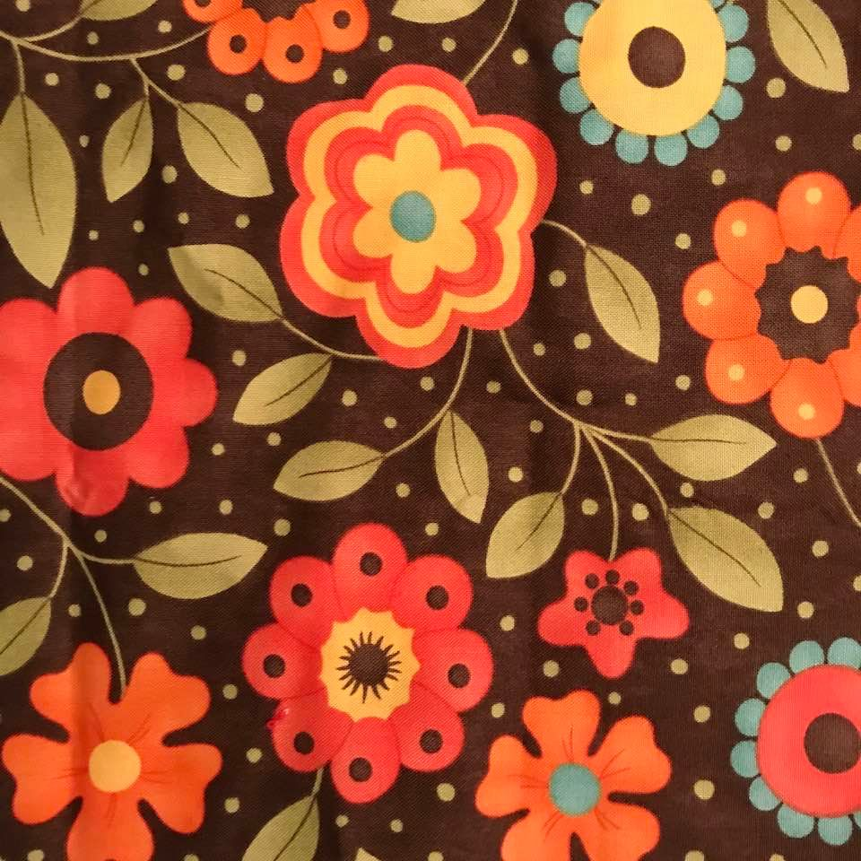 Flowers on Brown Background