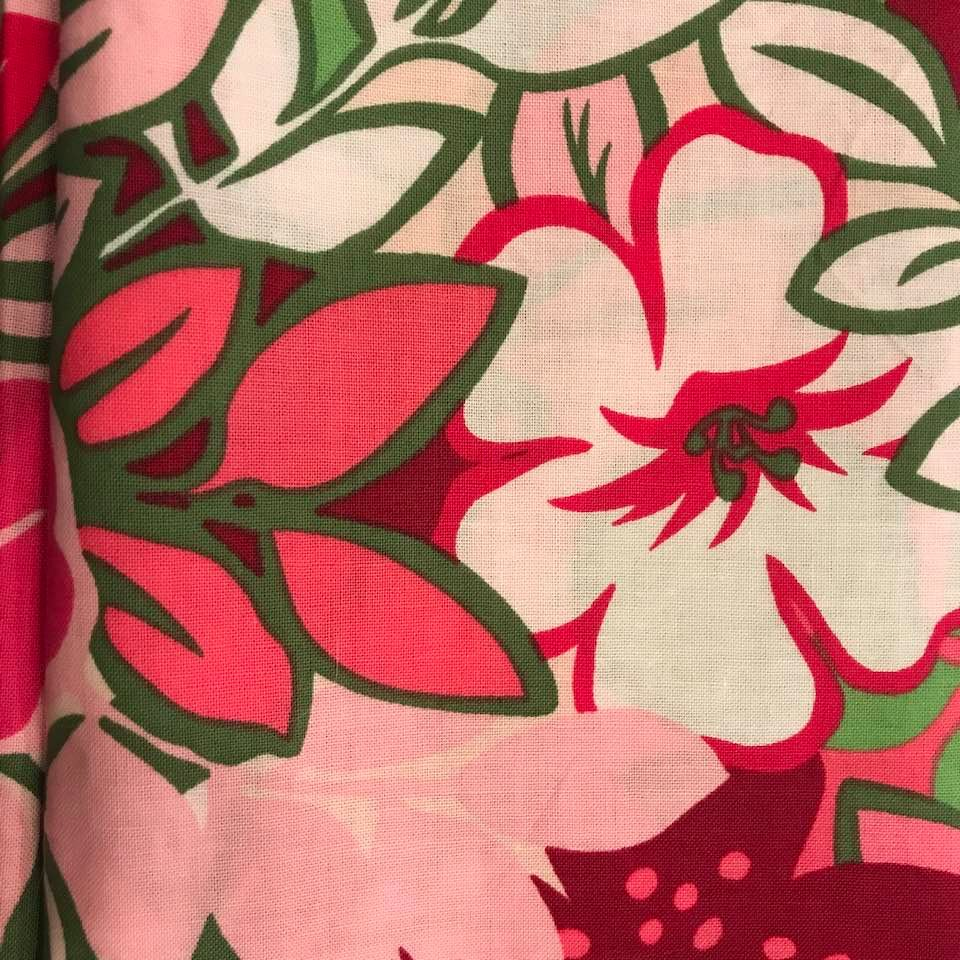 Pink Flower Fabric