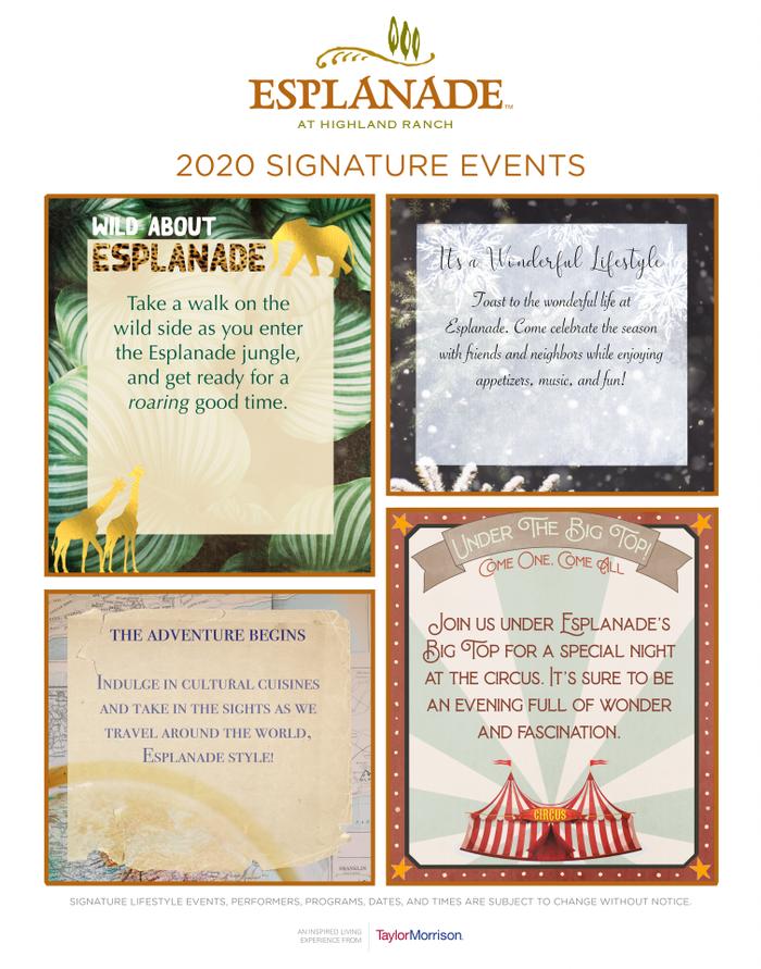 2020 Signature Events