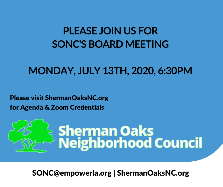 Please join us for SONCS Board Meeting on Monday July 13th at 630pm.