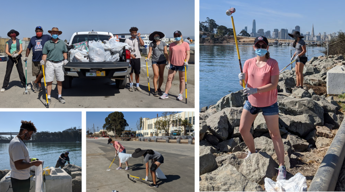 SSC Volunteers Cleaning Up TI Shoreline