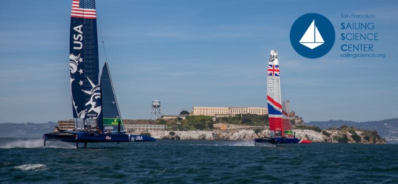F50 Catamarans Racing in front of Alcatraz