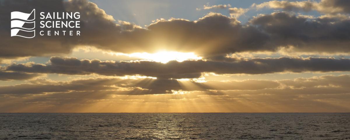 Sunburst Over Water with Logo