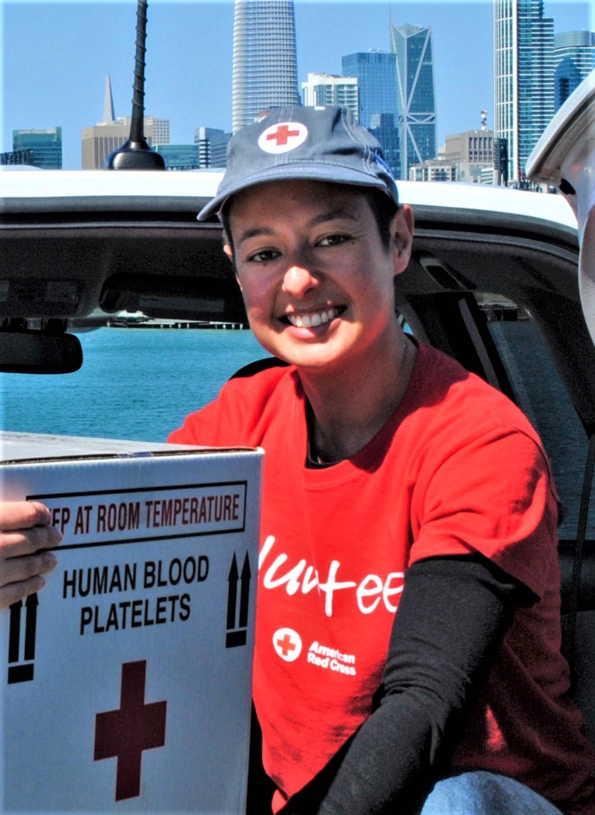 Ros de Vries Volunteering for Red Cross