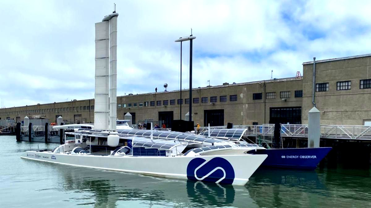 The Energy Observer at San Francisco Pier 15