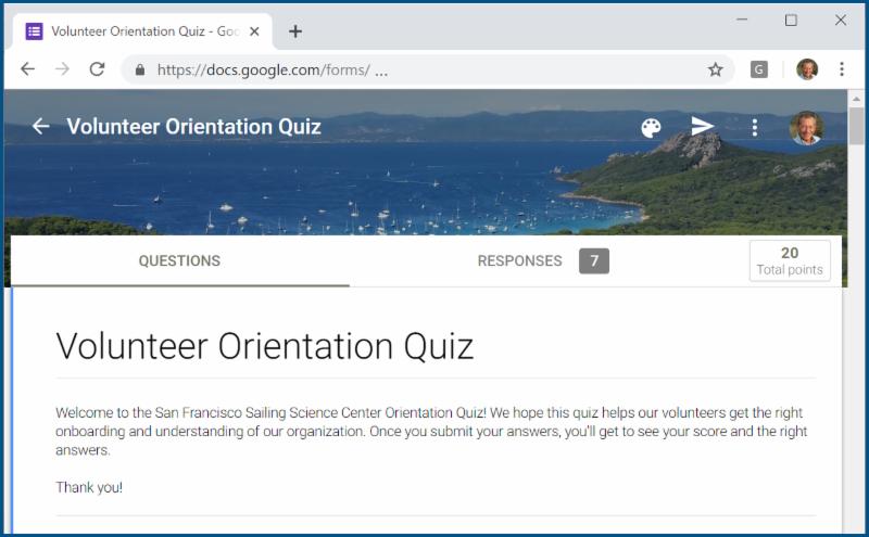 Volunteer Quiz - Introduction
