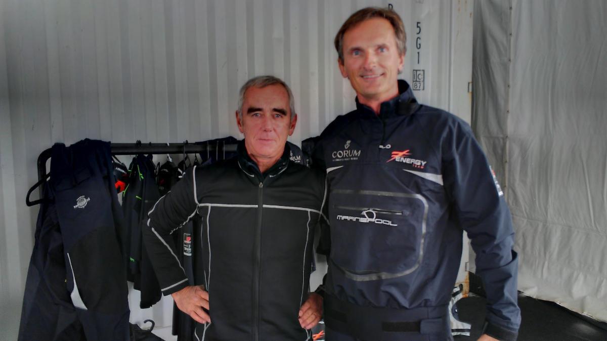 Olivier Lauzeral with legendary sailor Loick Peyron.