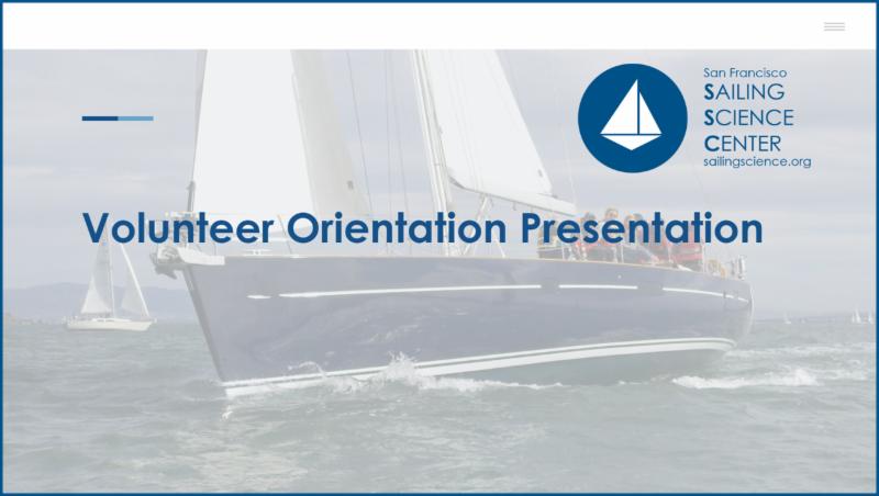Title Slide from Volunteer Orientation