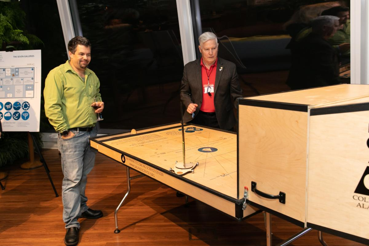 Danny Beesley and Rick Waltonsmith with Exhibit