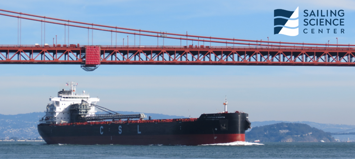 Bulk Carrier Rt. Hon. Paul E. Martin Going Through the Golden Gate