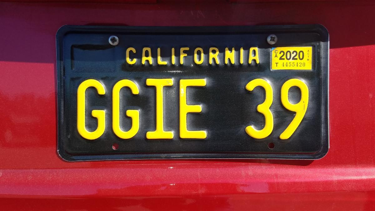 GGIE 39 License Plate