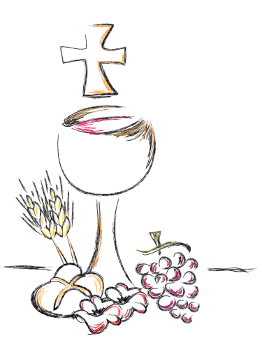illustration for first communion card