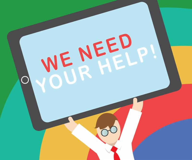 Text sign showing We Need Your Help. Conceptual photo Service Assistance Support Avail Benefit Aid Grant