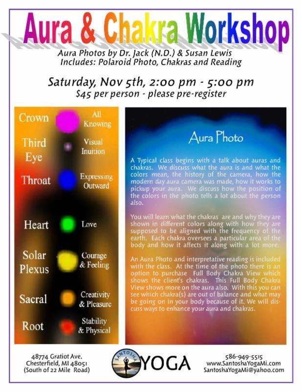 Crystal Bowl Meditation, Halloween Schedule, Aura & Chakras & More!
