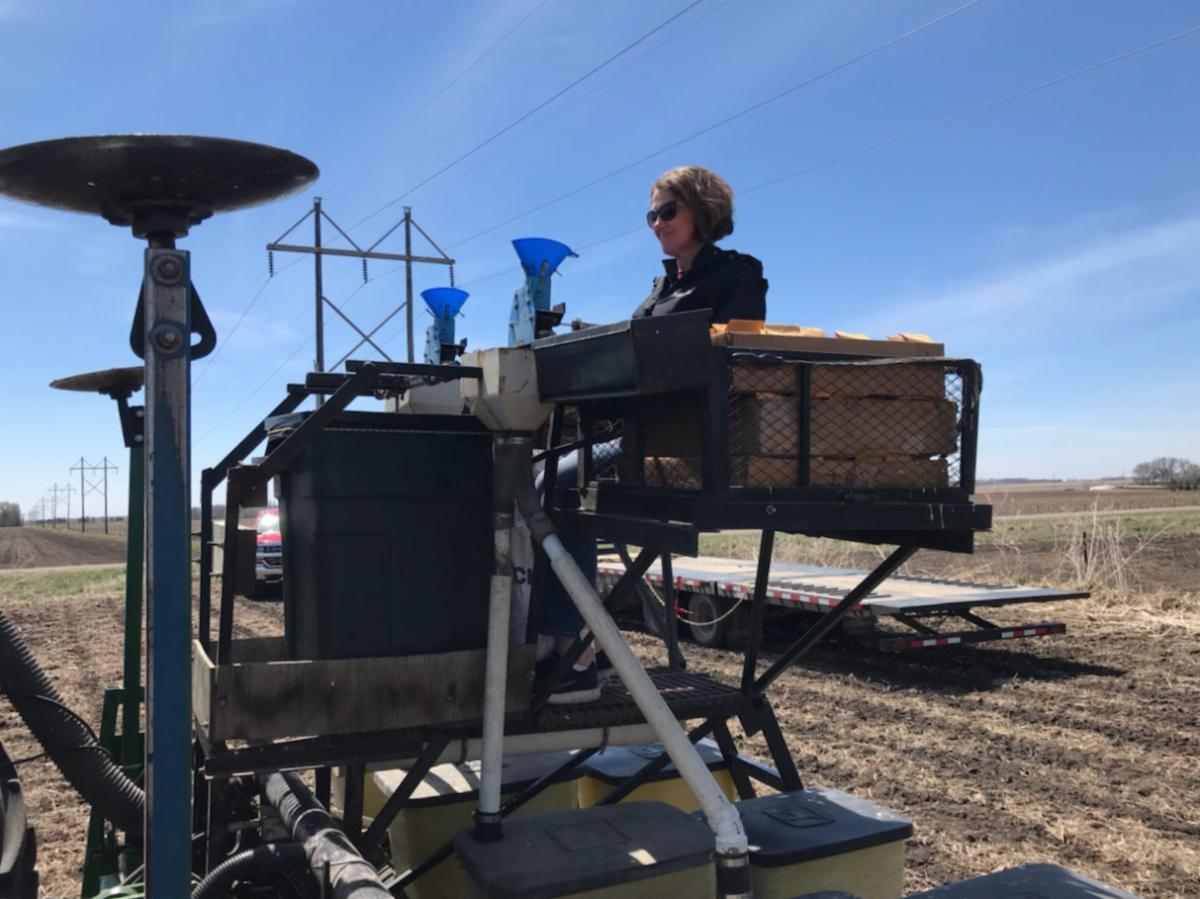 MNS Seed Research  Sandy Tollefson ready for planting Dell Rapids SD