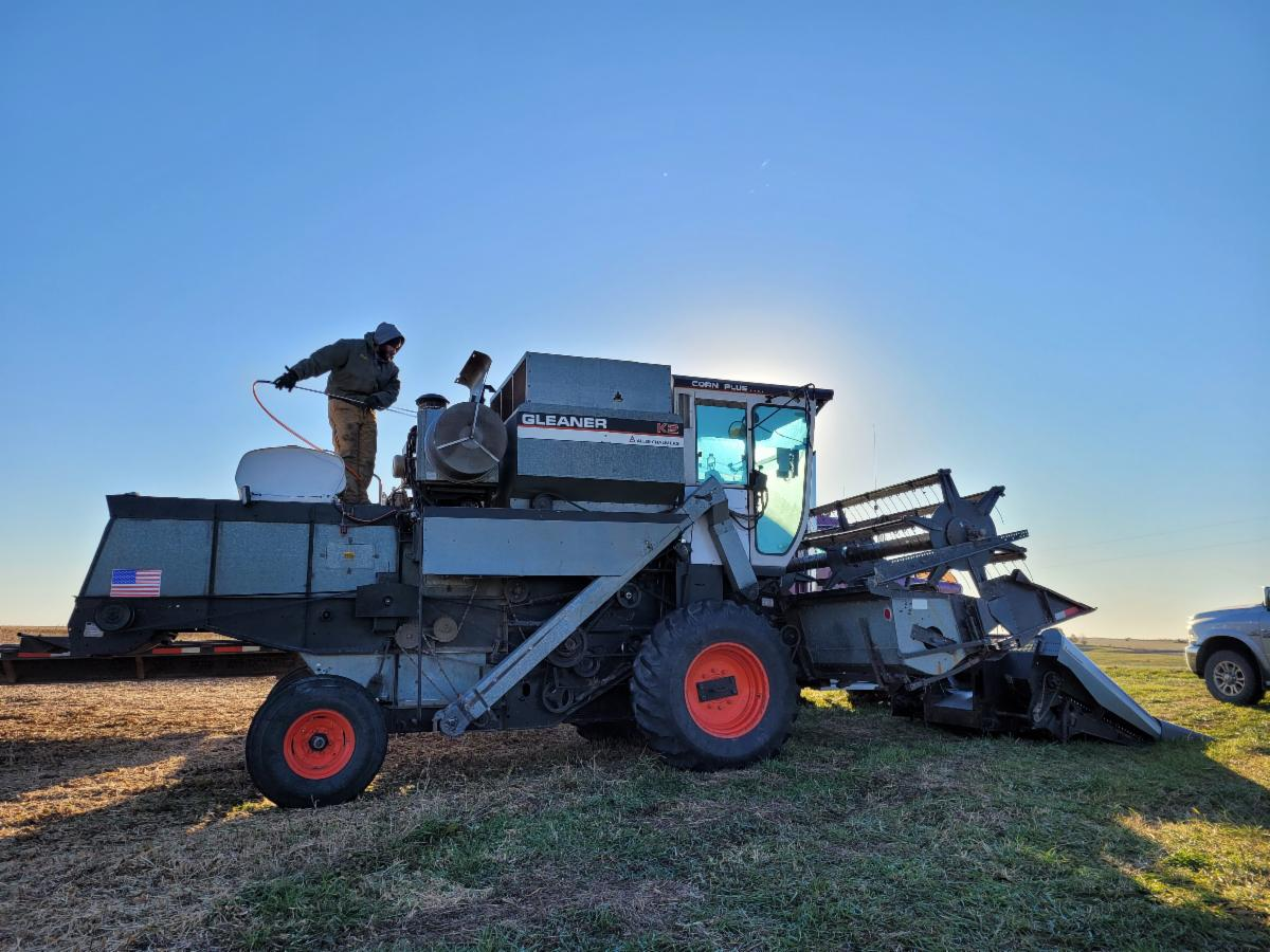 Bryce Meinsma preparing for harvest in Iowa