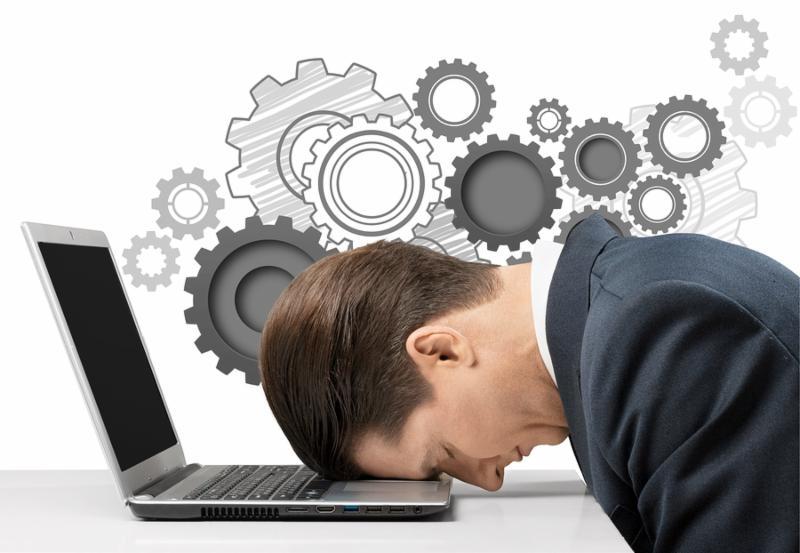 Stress stressful stressed businessman sleep tension laptop