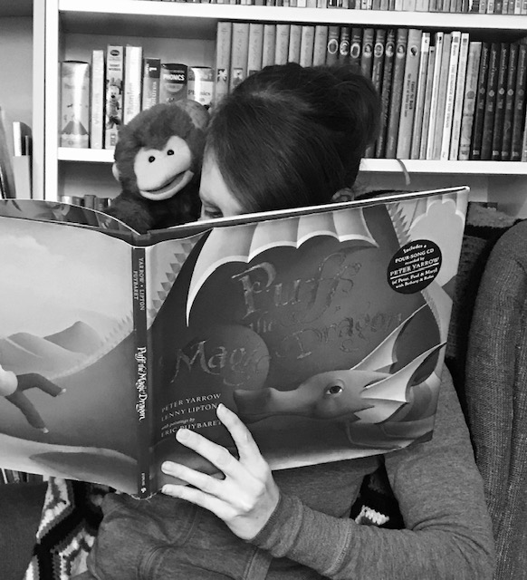 Miss Meg and Mr. Monkey Read at Home