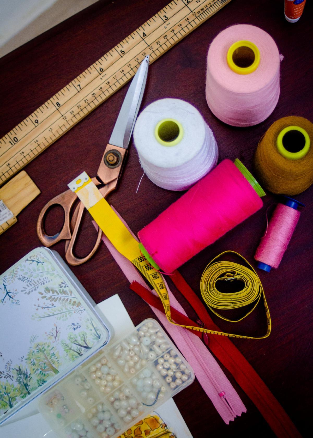 Photo of various craft supplies