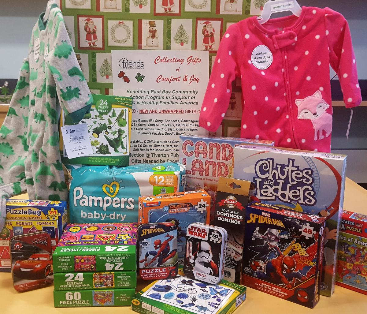 Gift Collection Box at Tiverton Library