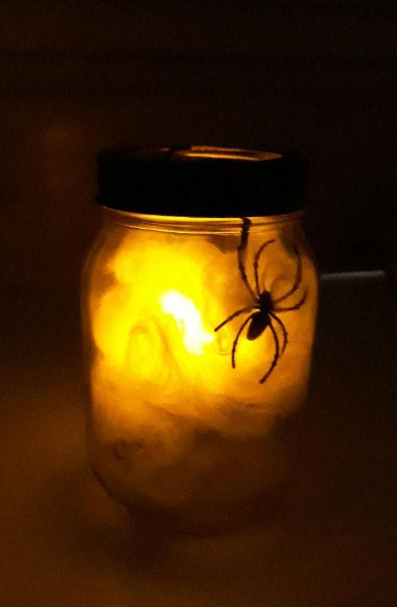 Photo of spider web luminary