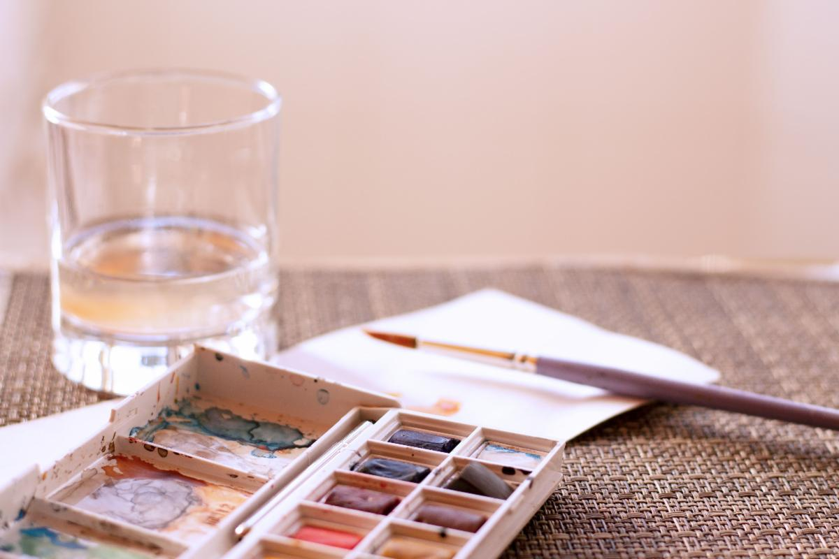 Photo of watercolor painting supplies