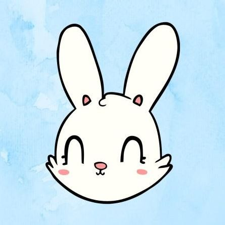 Image of a happy cartoon bunny