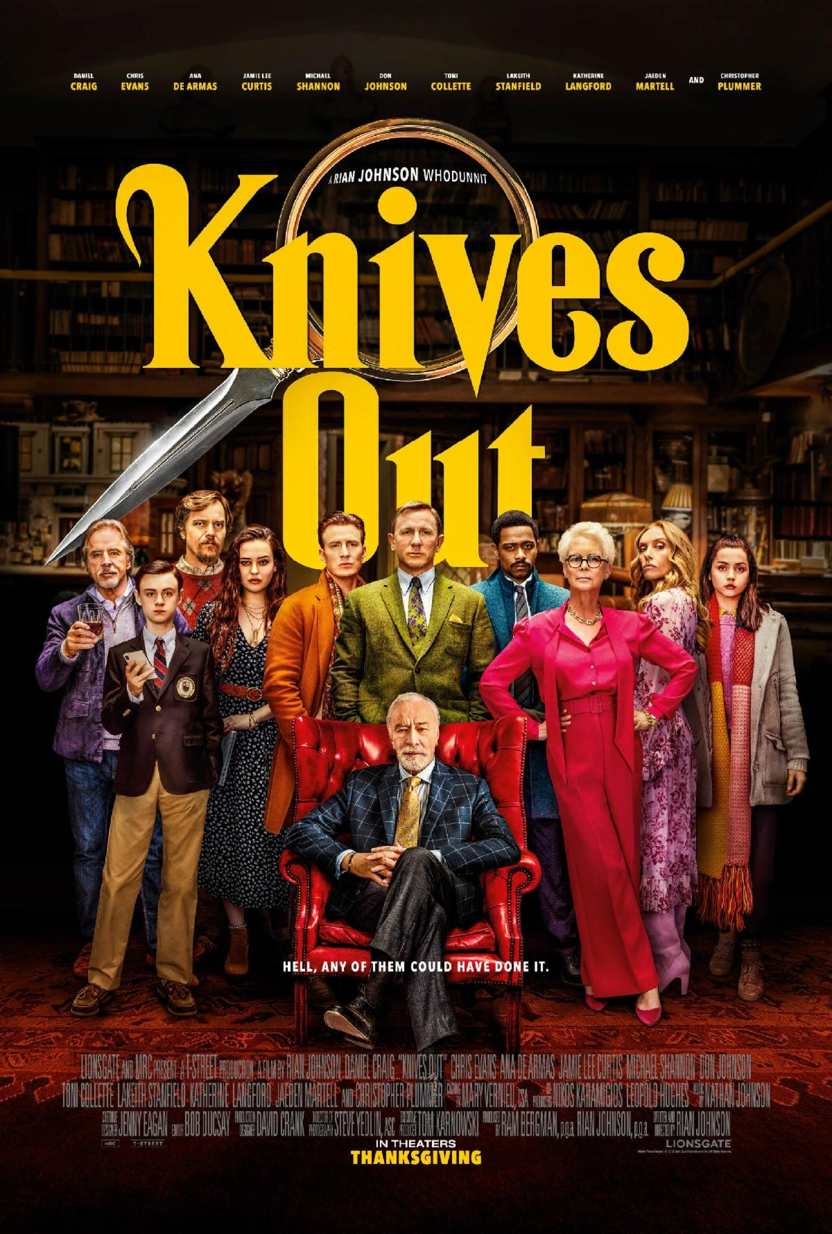 'Knives Out' movie poster