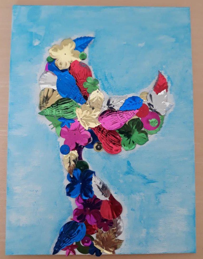 Photo of mermaid tail wall art craft