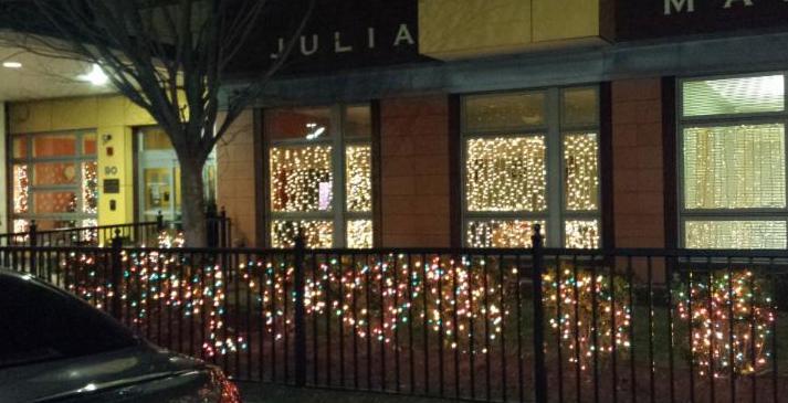 Julia Martin House lights