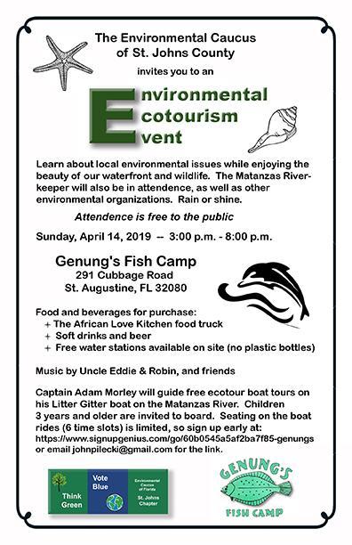 Environmental Event Planned, DEC Meeting, Florida Organizing