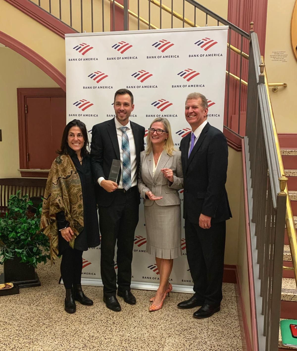 Hartford Public Library earns the prestigious Neighborhood Builders award from Bank of America.