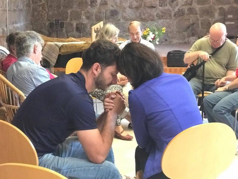 Couples loving prayer