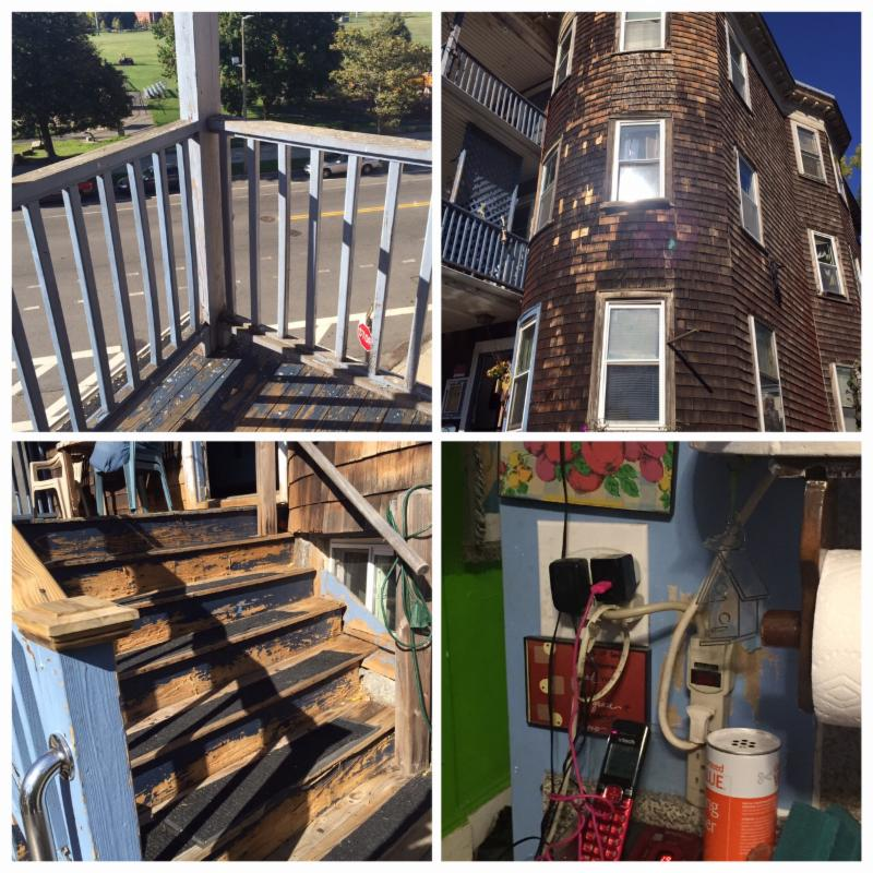 Before pictures of home in Dorchester that needs repairs