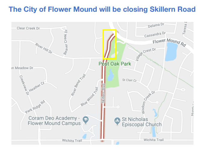 City of Flower Mound road closure