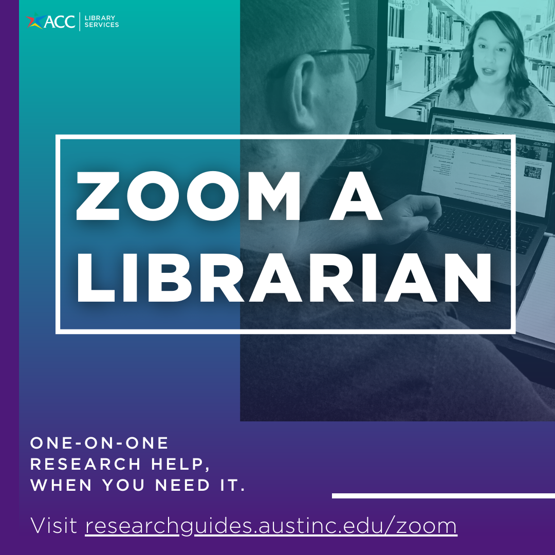 zoom a librarian one on one research help