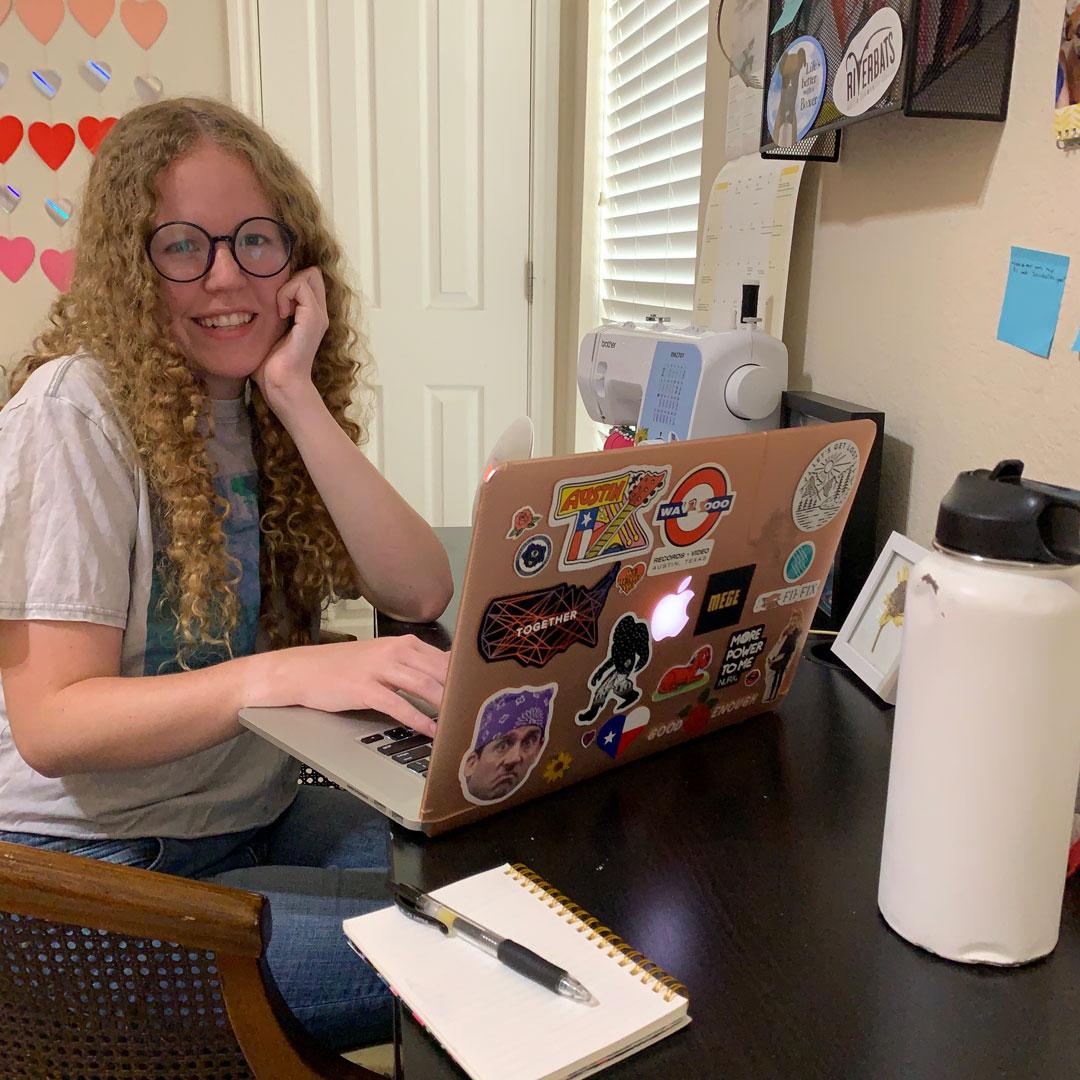 Alexa at her workspace