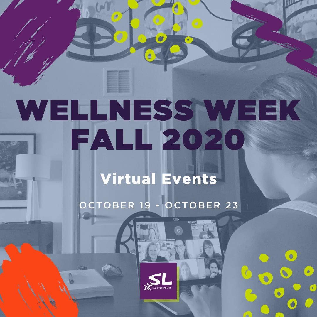wellness week fall 2020 virtual events October 19 through October 23